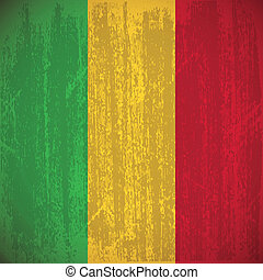 Mali - abstract Mali flag with special dirty effect