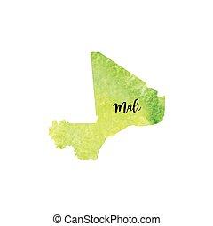 Mali map Administrative division of the republic of mali clip art
