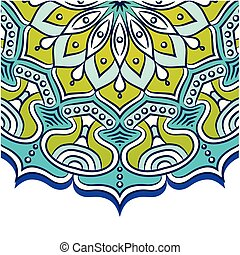 Abstract Mandala Blue Background Vector Image