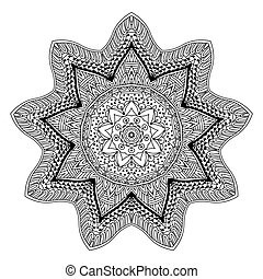 abstract mandala design round ornament