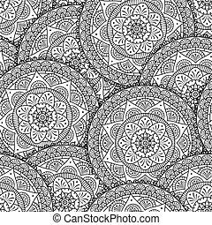 abstract mandala flowers pattern