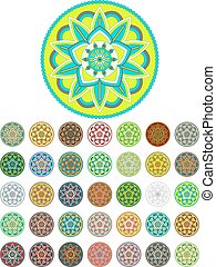 Abstract mandala vector pack