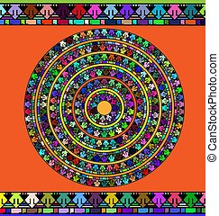abstract many colored circle - abstract colored image of...