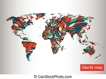 Abstract map pattern background. Vector illustration.