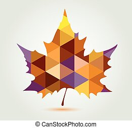 Abstract maple leaf
