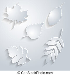Abstract Maple Leaf on White Background
