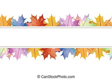 Abstract maple leaves isolated on white background. Vector illustration