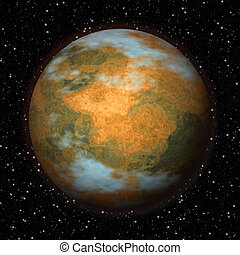 Abstract Mars planet generated texture background