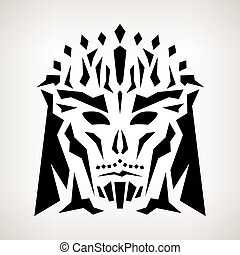 Abstract Mask, Tribal Style