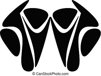 Abstract mask vector or color illustration