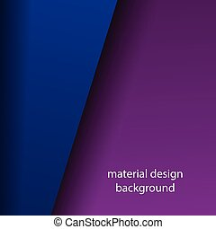 abstract material design background with purple and blue colors