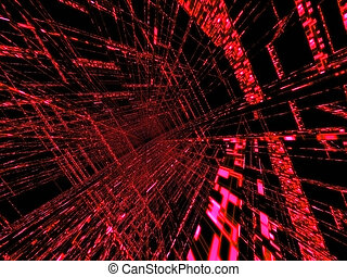 abstract matrix - 3d rendered illustration of an abstract...