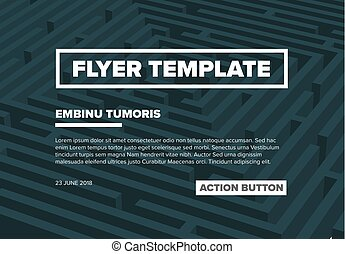 Abstract maze flyer template
