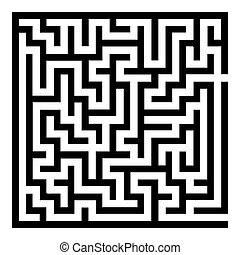 Abstract Maze Labyrinth pattern on White Background. Vector