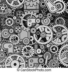 Abstract Mechanism. Seamless Pattern Vector Design