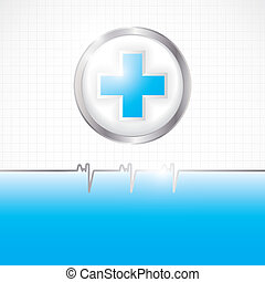 Abstract medical background - Abstract blue silver grid...
