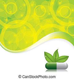 Abstract medical background - Abstract natural green medical...