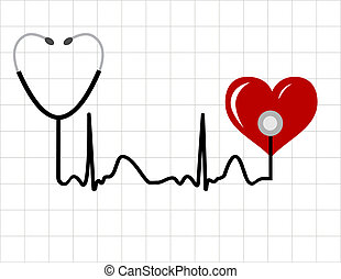 Abstract medical background - Heart and a medical...