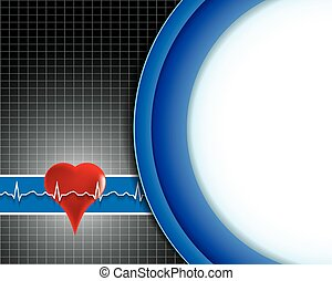 Abstract medical background with .