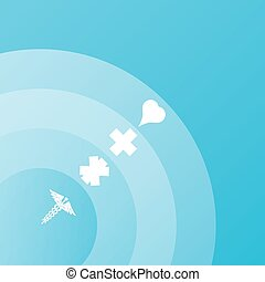 Abstract medical background with medical symbols.