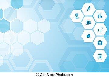 Medical blue background - Abstract Medical blue background