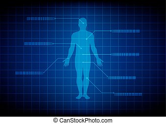 Abstract Medical body background. Abstract digestive system.