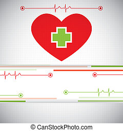 Abstract medical cardiology ekg background