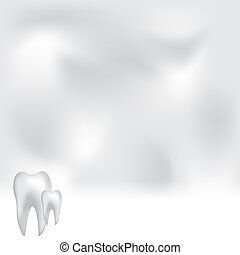 Abstract medical dental background with white teeth