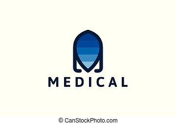 abstract medical logo Designs Inspiration Isolated on White Background