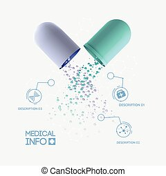 Abstract Medicine Infographic Concept