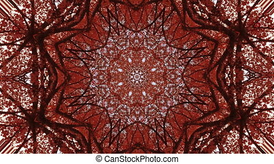 Abstract meditation background red