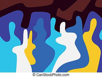 abstract, mensen