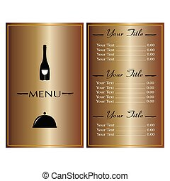 Abstract menu presentation