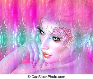 Abstract Mermaid, fantasy art - Mermaid, the mythological...