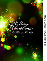 Merry Christmas and New Year card