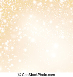 Abstract Merry Christmas card - Golden Christmas lights  and snowflakes