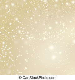 Abstract Merry Christmas card - Golden Christmas lights and...