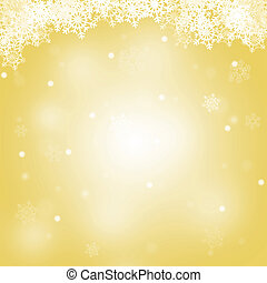 Abstract Merry Christmas yellow background