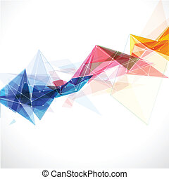 Abstract mesh colorful with lines template, vector...