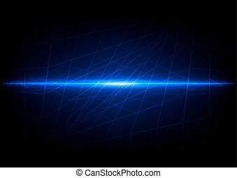 Abstract mesh with blue light background