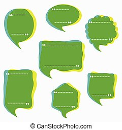 abstract message bubble design