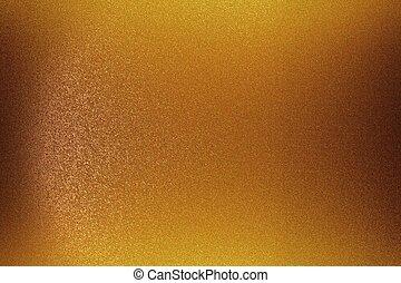 abstract, metaal muur, textuur, achtergrond, geborstelde, brons