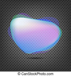 Abstract Metal Background With Blue Speech Bubble