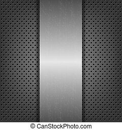 Abstract Metal Background With Metal Plate