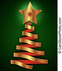 Abstract metal christmas tree