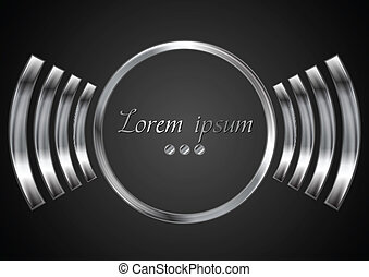 Abstract metal circle logo design. Vector background