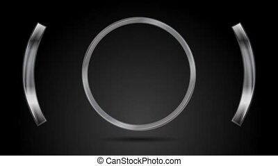 Abstract metal circle video animation