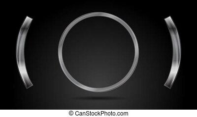 Abstract metal circle video animation