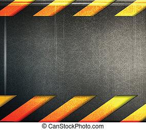 abstract metal danger background - vector illustration