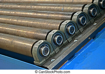 abstract metal rollers heap, industry details